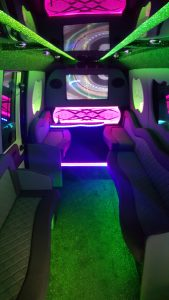 The 16 Seater Limo - one of the options if you choose to hire a limousine in St-Helens
